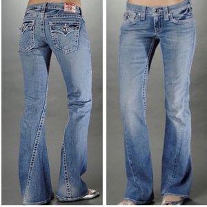 True Religion light wash joey jeans